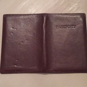 Accessories - Leather Passport Holder Cover